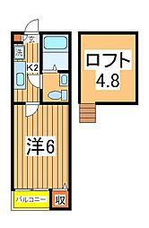 DHG.輝[1階]の間取り