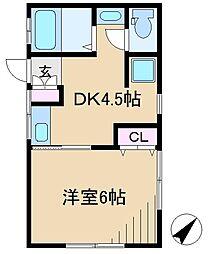 Heights Kamezaki(ハイツ カメザキ)[2階]の間取り