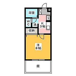 プロシードII[1階]の間取り