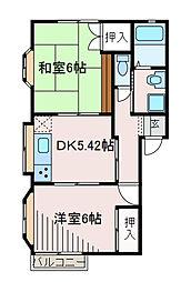 東京都町田市南成瀬3丁目の賃貸アパートの間取り