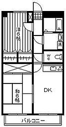 ファンタジーハウス[407号室]の間取り
