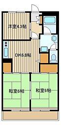 大泉グリーンハイツ[2階]の間取り
