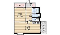 オーナーズマンション阪南[4階]の間取り