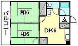 DAKマンション山越[506 号室号室]の間取り