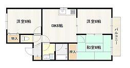 広島県広島市西区井口台4丁目の賃貸アパートの間取り