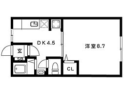 岡本梅林住宅5号棟[302号室]の間取り