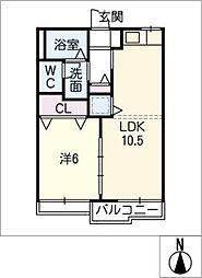 ファーシル旭[2階]の間取り