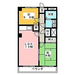 コーポ三瀧[3階]の間取り