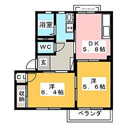 ニアステーション C[2階]の間取り
