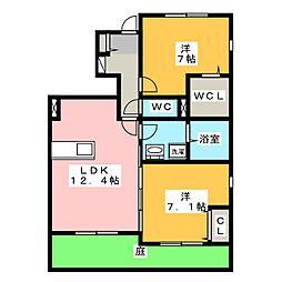 仮)ラシーネ東出[1階]の間取り