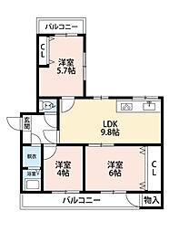 藤マンション[1階]の間取り