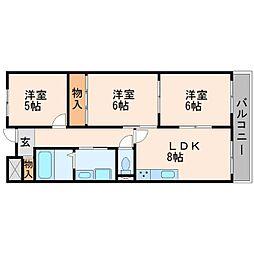 武庫之荘クラウンハイツ[2階]の間取り