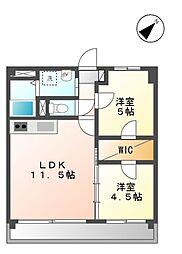パシフィック葵[2階]の間取り