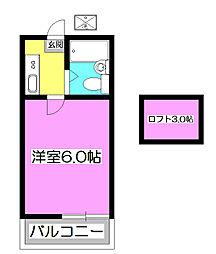モナークハイムI[1階]の間取り