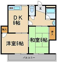 兵庫県伊丹市堀池5丁目の賃貸マンションの間取り