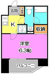 東京都練馬区上石神井3丁目の賃貸マンションの間取り