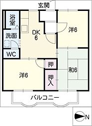 ポートタウンA・B[1階]の間取り