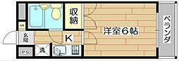大阪府高槻市土橋町の賃貸マンションの間取り