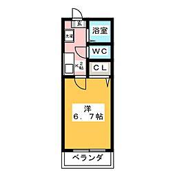 アーバンビラ鶴里[2階]の間取り