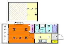 レンブランサ舞松原IA[2階]の間取り