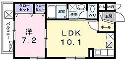 トレーデ[301号室号室]の間取り