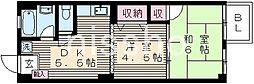 東京都杉並区梅里2丁目の賃貸マンションの間取り