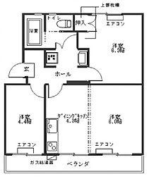 マルタカマンション[302号室]の間取り