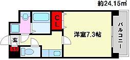 レジディア高宮[304号室]の間取り