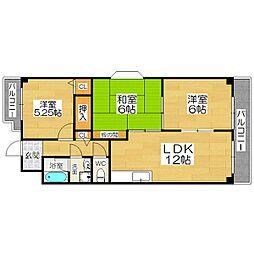 サンクレール21[3階]の間取り