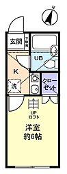 サンパレス大和田3番館[1階]の間取り