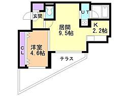 Ciel24 1階1LDKの間取り
