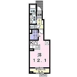 福町アパート[0104号室]の間取り