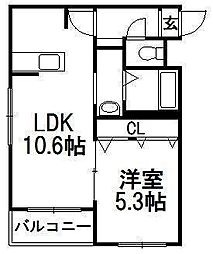 北海道札幌市中央区宮の森一条6丁目の賃貸マンションの間取り