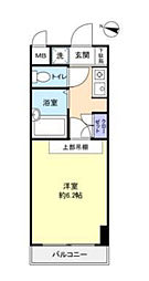 ラ・コート・ドール津田沼[3階]の間取り