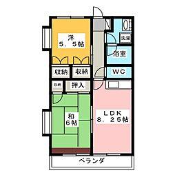 ベルドミール[4階]の間取り