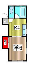 木本マンション[1階]の間取り