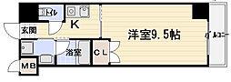 リバティ西三荘[4階]の間取り