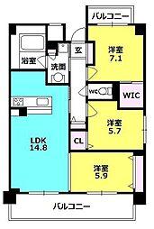 セリシール夙川苦楽園[7階]の間取り