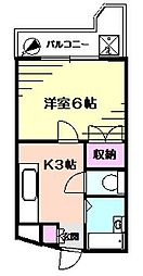 サンライズ大倉山[2階]の間取り