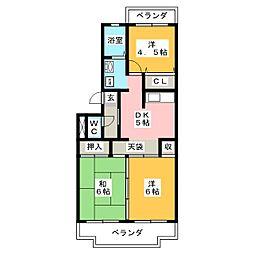 ドムスグラーチア[2階]の間取り