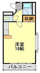 フィールドハウス末広弐番館[211号室]の間取り