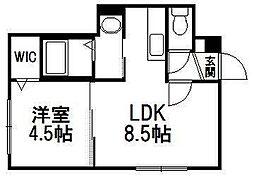北海道札幌市西区西町南2丁目の賃貸マンションの間取り