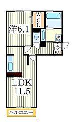 サフィール[3階]の間取り