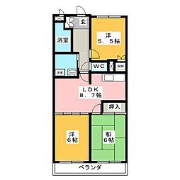 アピタシオン華[3階]の間取り