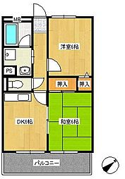 中川マンション[2階]の間取り