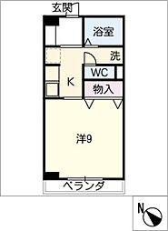アメニティ三崎[3階]の間取り
