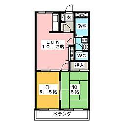 パープルメゾン弐番館[2階]の間取り