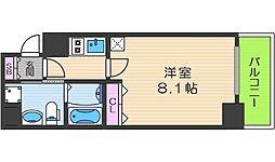 Osaka Metro堺筋線 南森町駅 徒歩5分の賃貸マンション 5階1Kの間取り