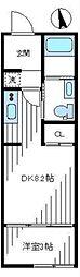 K FLAT A  ケーフラットエー[1階号室]の間取り