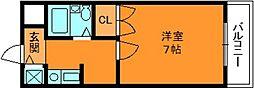 奈良県生駒郡三郷町信貴ケ丘1丁目の賃貸マンションの間取り